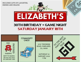 Monopoly Birthday invitation Template