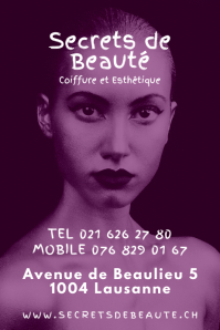 Monotone Beauty Salon Poster