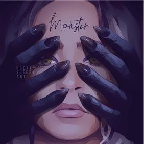 Monster Painting CD Cover Art template
