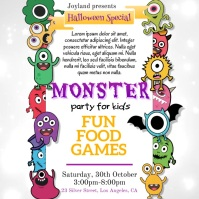 Monster Party, Halloween Wpis na Instagrama template