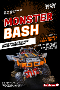 Monster Truck Bash Flyer Design Template