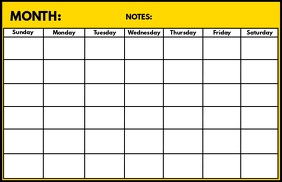 Month Planning Board Template Tabloid