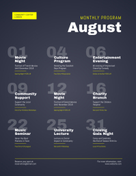 Monthly Program Events Calendar Flyer
