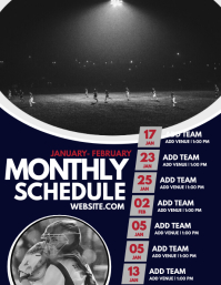 Monthly Schedule Flyer (US Letter) template