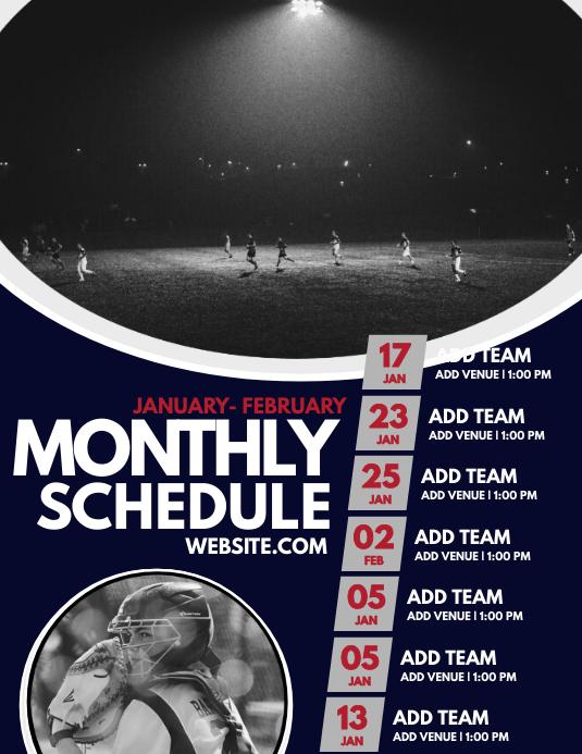 Monthly Schedule