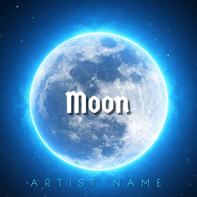 Moon album art template