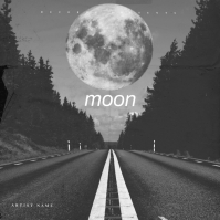Moon Album Cover Art Template