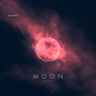 Moon Pink Cloud CD Cover Music Albumcover template