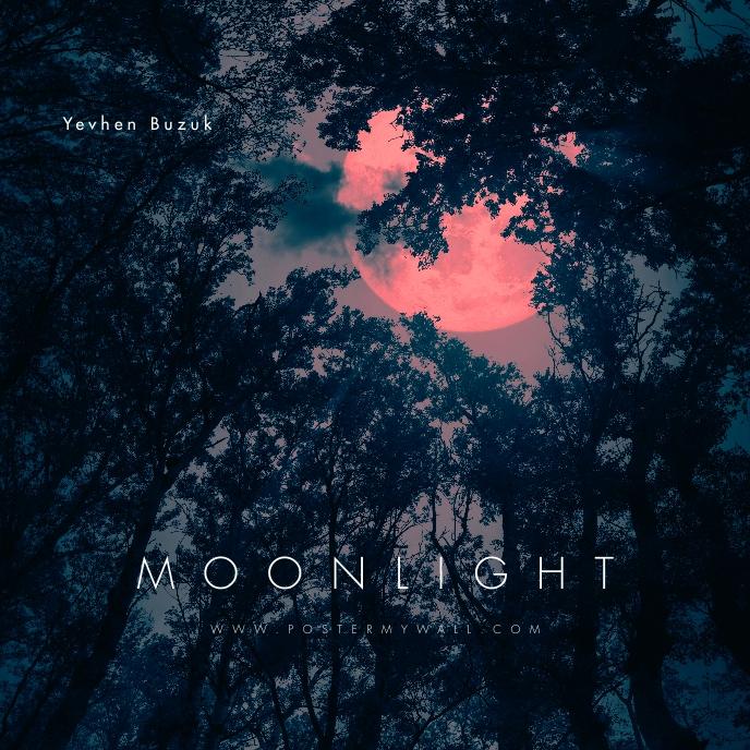 Moonlight Moon Forest Dark CD Cover Music 专辑封面 template