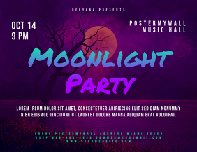 Moonlight Party Event Landscape Flyer
