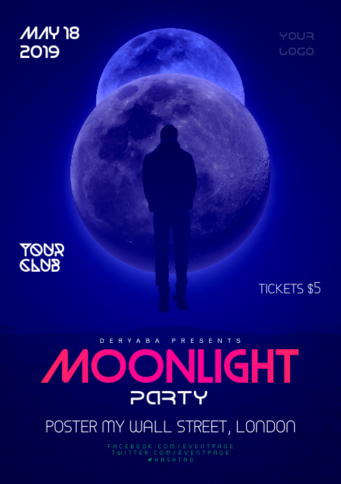 Moonlight Party/Event Poster/Flyer