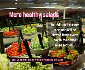More healthy salads Большой прямоугольник template