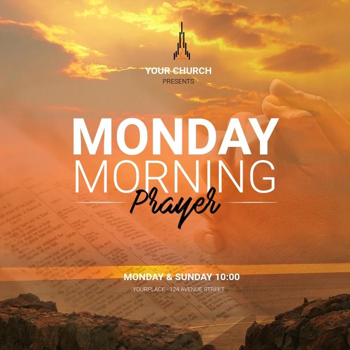 Morning Prayer Instagram post template