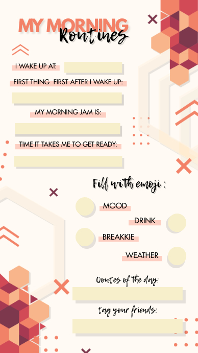 Morning Routine And Questions Instagram Story Template Postermywall