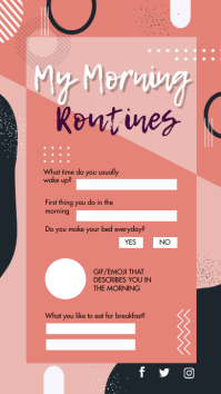 Morning Routine Checklist Instagram Story