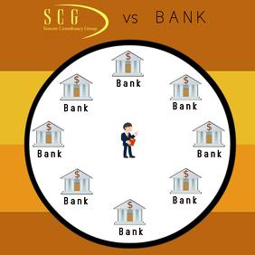 Mortgage Broker vs Bank Publicação no Instagram template