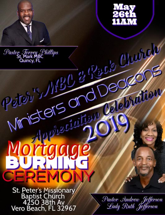 Mortgage burning ceremony