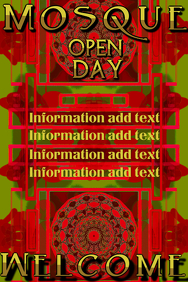 mosque open day, in red