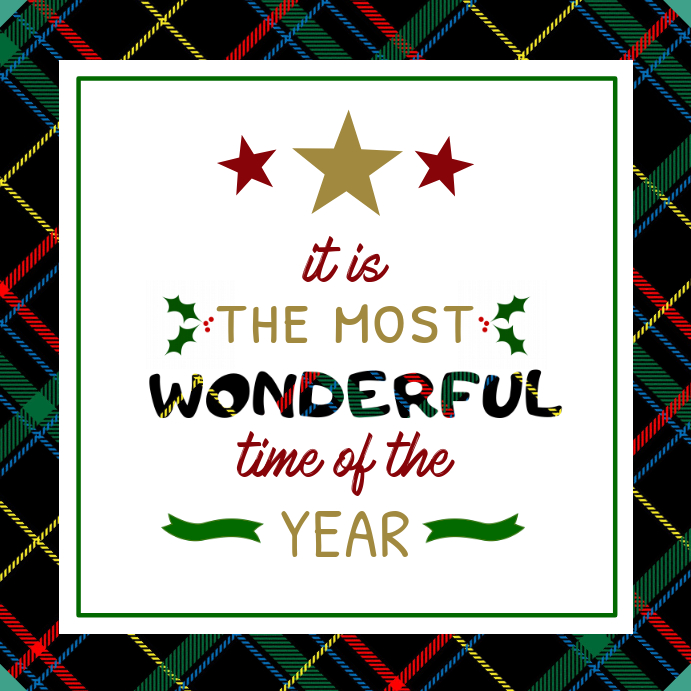 Most Wonderful time of the Year Christmas Quote Instagram