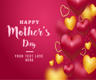 Mother's's day background Middelgrote rechthoek template