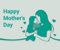 Mother's day, event, greeting,retail Grand rectangle template