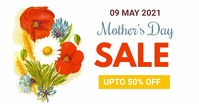 Mother's day, event, greeting,retail Reklama na Facebooka template