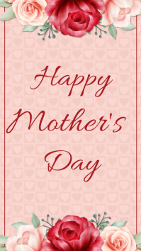 Mother's day, event, greeting Instagram-verhaal template