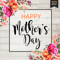 Mother's Day, Happy Mother's Day Quadrado (1:1) template