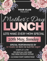 Mother's day, mother's day brunch Flyer (US Letter) template