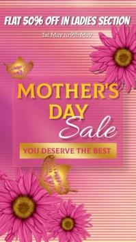 Mother's Day, Sale Umbukiso Wedijithali (9:16) template