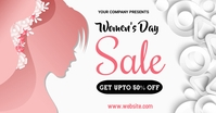 women's day, event, greeting card, celebration Gedeelde afbeelding op Facebook template