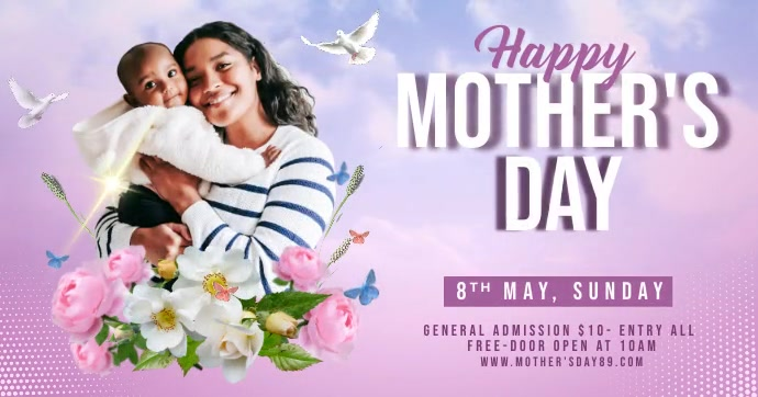 Mother's DayCelebrate FB Post Imagen Compartida en Facebook template