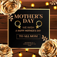 Mother's day , women's day Cuadrado (1:1) template