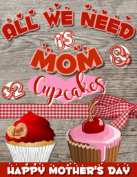 Mother's Day Bake Sale Flyer Template