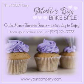 Mother's Day Bake Sale Video