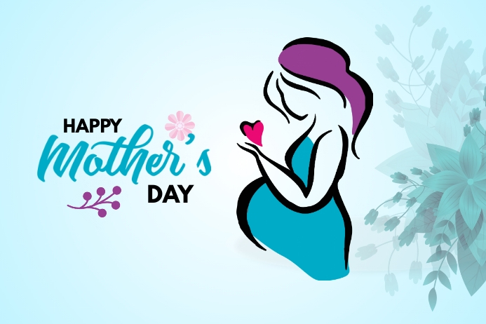 Mother's Day banner Transparent 4 stopy × 6 stóp template