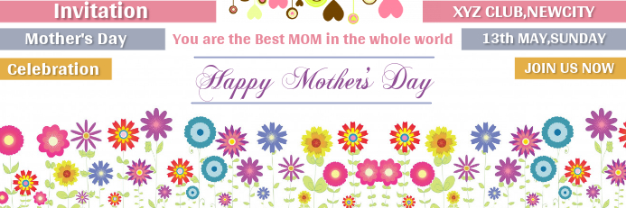 Mother's Day Banner Template