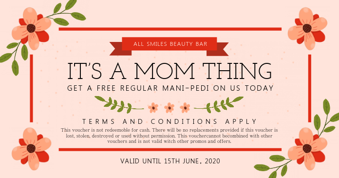 Mother's Day Beauty Salon Gift Certificate