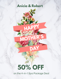 Mother's Day Big Discount Instagram Story Ad Flyer (US-Letter) template