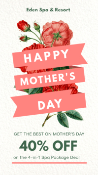 Mother's Day Big Discount Instagram Story Ad template