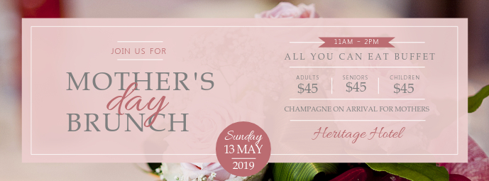 Mother's Day Brunch Deal Facebook Cover Photo