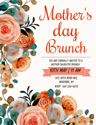 Mother's day brunch Folheto (US Letter) template