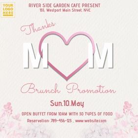 Mother's Day Brunch Design Publicação no Instagram template