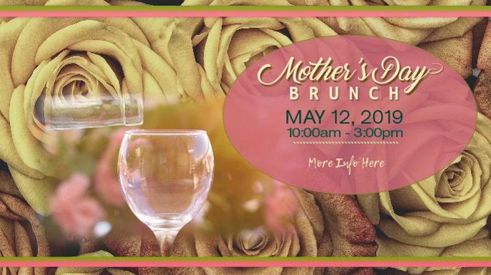 Mother's Day Brunch Digital Display Digitale Vertoning (16:9) template