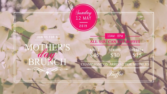 Mother's Day Brunch Facebook Cover Video