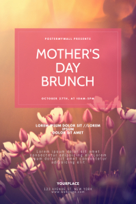Mother's Day Brunch Flyer Design Template