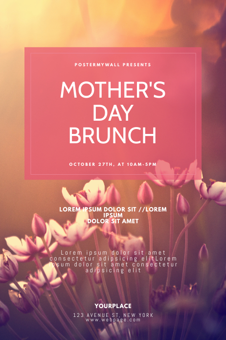 Mother's Day Brunch Flyer Design Template