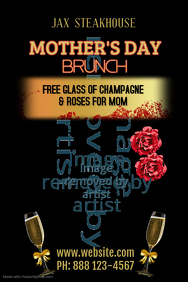 Mother's Day Brunch Poster Template