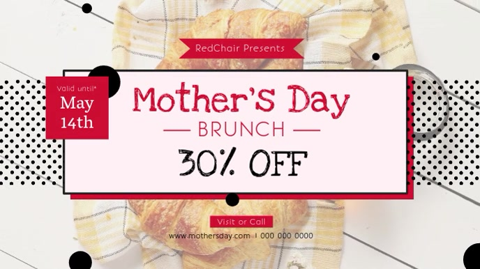 Mother's Day Brunch Restaurant Ad Digital Display Video