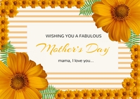 Mother's Day card ไปรษณียบัตร template